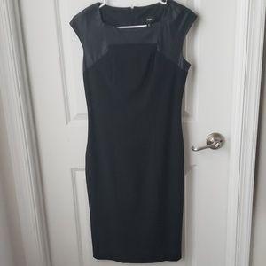 Sleek black pencil dress